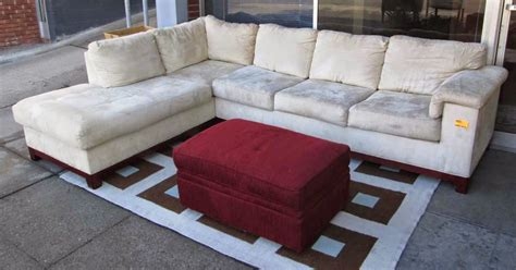 microsuede sectional with chaise uhuru furniture collectibles sold microsuede sectional