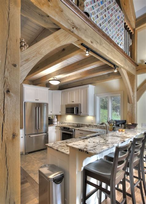 a frame kitchen ideas we the breakfast bar timber home kitchens