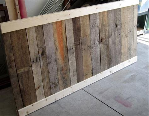 making a headboard out of pallets diy pallet headboard before and after