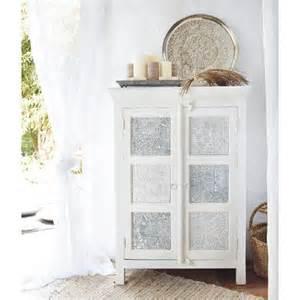 armoire blanche et argent 233 e maisons du monde mdm