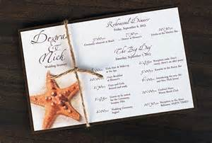 destination wedding itinerary template starfish tropical destination wedding by palmleafinvitations