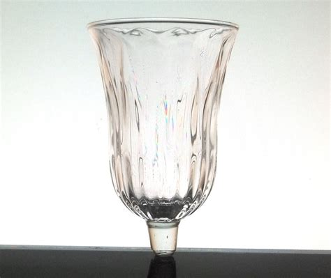 home interiors peg votive candle holder clear