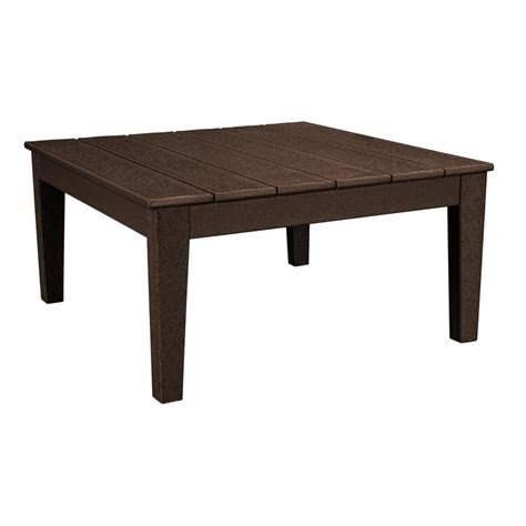 Outdoor Coffee Table Polywood Newport 36 In Square Plastic Outdoor Coffee Table Mnt36ma The Home Depot