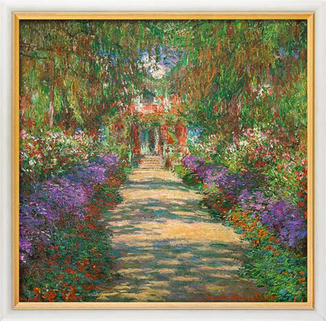 claude monet garden of giverny painting for sale