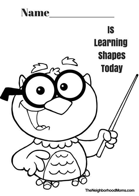shapes coloring pages shapes coloring pages printable the neighborhood