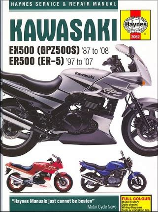 Kawasaki Ex500 Gpz500s Er500 Repair Manual 1987 2008