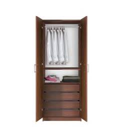 Wardrobe Armoire With Rod Hanging Wardrobe Armoire Closet Contempo Space