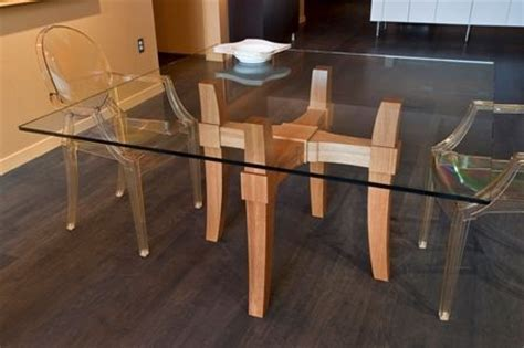 custom glass top dining table by infusion furniture