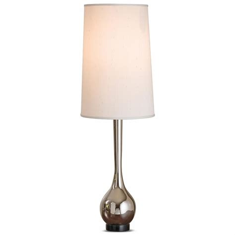 joan modern classic polished nickel large tall table lamp kathy kuo home