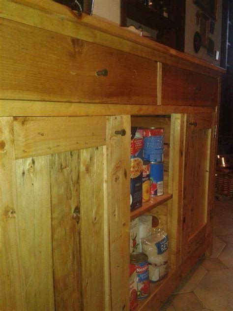 Upcycled Kitchen Cabinets Diy Upcycled Pallet Kitchen Cabinet