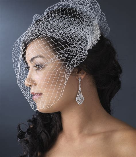 Wedding Hair Cage Veil by Cage Veil Bridal Hair Combs Bridal