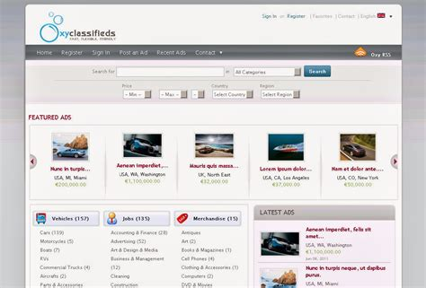 classified ads html template find any templete here oxyclassified classified