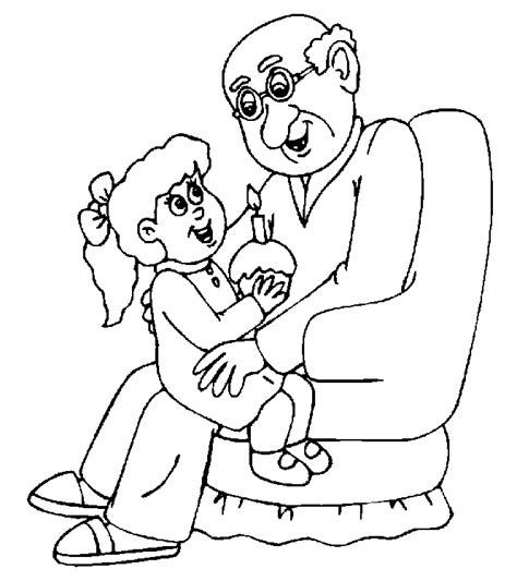 grandpa and granny coloring pages coloringpages1001 com