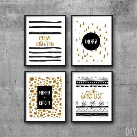 printable christmas wall art have a very merry christmas printable wall art set of 4