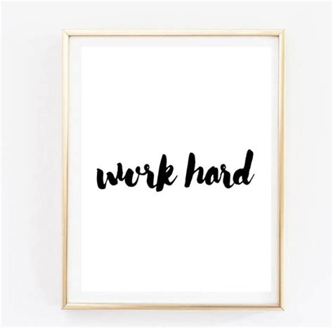 Frame Quotes Motivational Poster Work Big 4r work handwritten inspirational quote typographic
