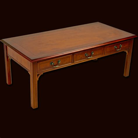 burr walnut chippendale coffee table