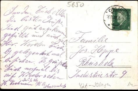 Ansichtskarte Postkarte Solingen Ohligs Deutsche Bank
