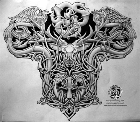 tattoo design for back celtic warrior back design by design on
