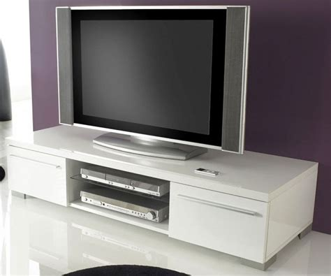 banc tv blanc laque banc tv blanc laqu 233 pas cher meuble tv banc bois trendsetter