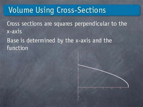 Volume Using Cross Sections by Volume Cross Sections Ap Calculus Ab By Brightstorm