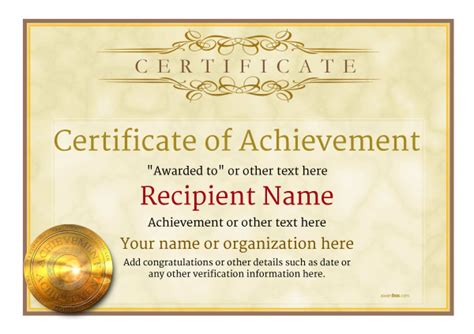 Certificate Of Achievement Free Templates Easy To Use Download Print Certificate Of Achievement Template