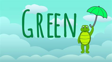 the color green the color green song learn colors songs the green song