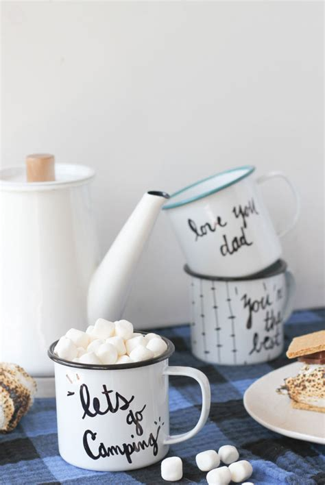 Eclectic Dining Room make this diy enamel camp mugs for fall paper and stitch
