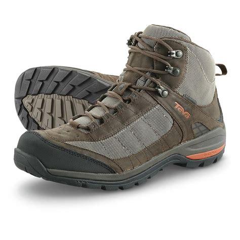 teva biking shoes teva kimatah waterproof mid hiking boots bungee cord