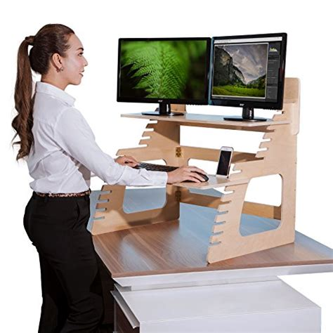 stand up desk amazon dual monitor standing desk converter by well desk
