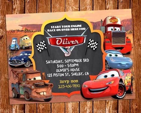 disney cars birthday invitations printable disney cars invitation disney cars birthday invite