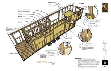 tiny house plans wheels framing the life