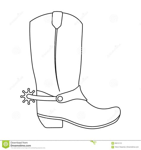 paper boat clipart black and white cowboy boots icon in outline style isolated on white