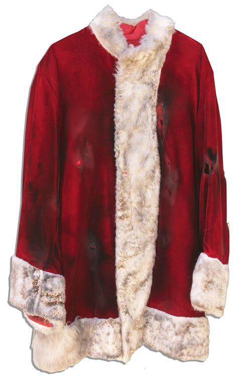 lot detail ben affleck screen worn hero santa jacket