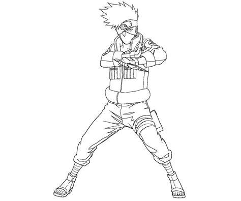 kakashi hatake 1 coloring crafty teenager