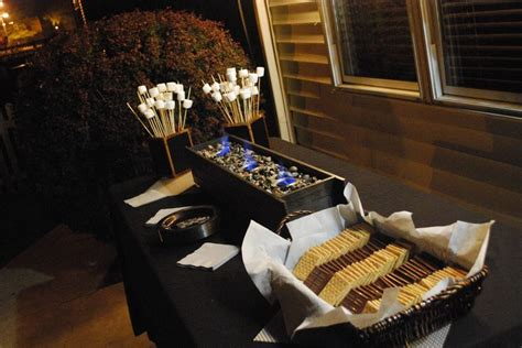 Homemade S Mores Bar For Outdoor Or Indoor Party Sterno S Mores Buffet