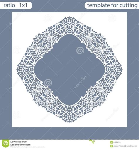 Greeting Card Shape Template by Laser Cut Wedding Invitation Card Template Cut Out The