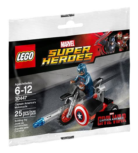 Lego Heroes 30447 Minifigure Captain America Motorcycle S toys n bricks lego news site sales deals reviews