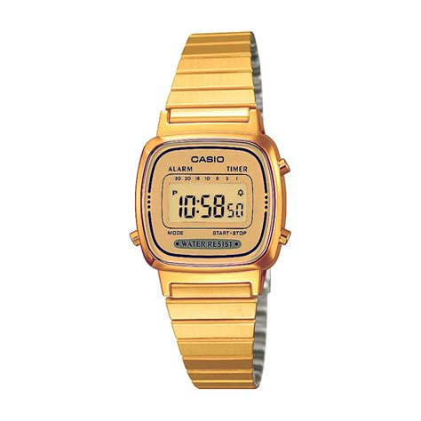 casio dorato casio casio collection orologio digitale dorato