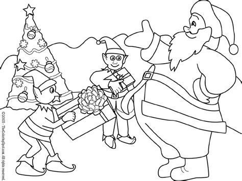 elves workshop coloring pages santa and his elves coloring pages getcoloringpages com