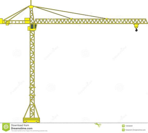 tower crane stock vector illustration  rope vector