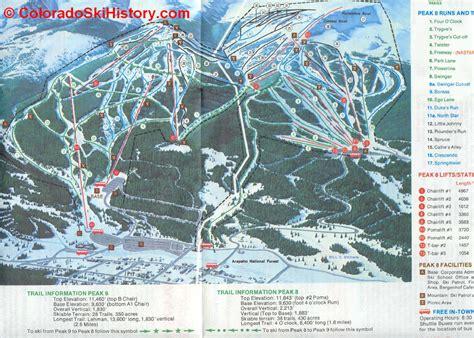 breckenridge map history of the breckenridge ski area
