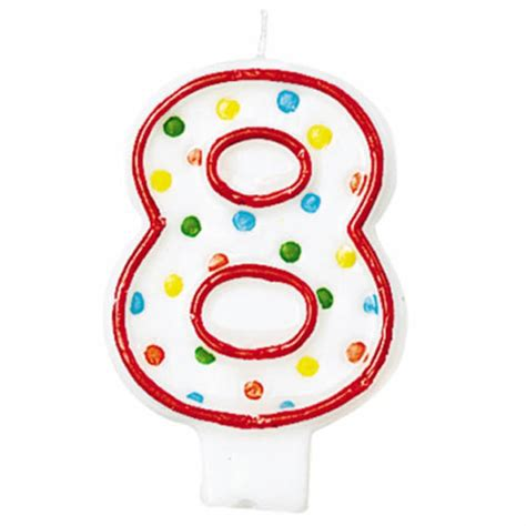 Dots Number Candle amscan polka dots 8 candle from category candle