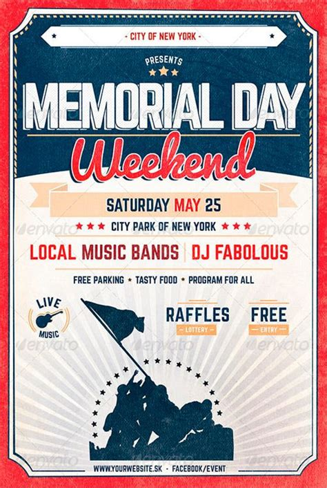 Best 10 Memorial Day Flyer Templates Collection Graphicriver Funeral Flyer Template