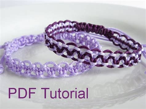 Macrame Square Knot Tutorial - pdf tutorial alternating square knot macrame bracelet