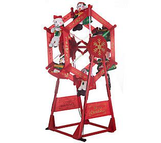 outdoor light up holiday ferris wheel with spotlight qvc com