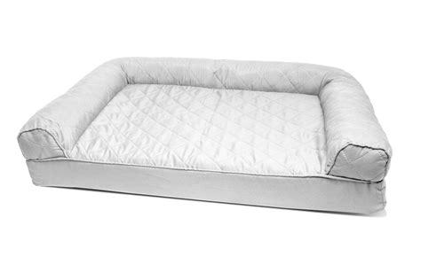 orthopedic pet sofa harmony cuddler orthopedic dog bed in khaki petco dog beds