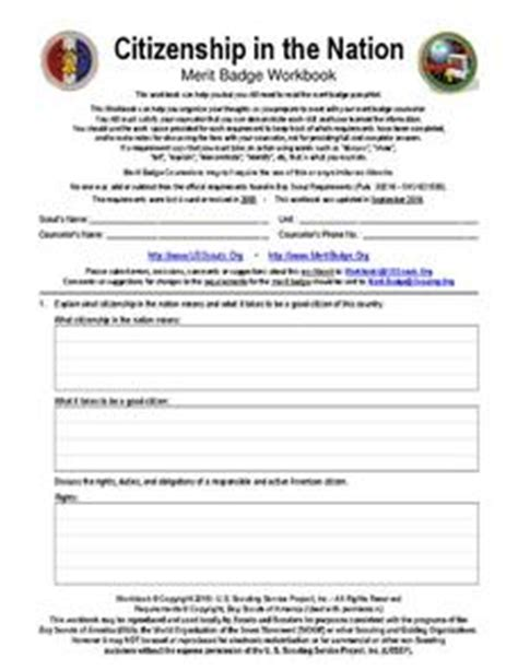 Citizenship In The Nation Worksheet by Boy Scouts Lesson Plans Worksheets Reviewed By Teachers