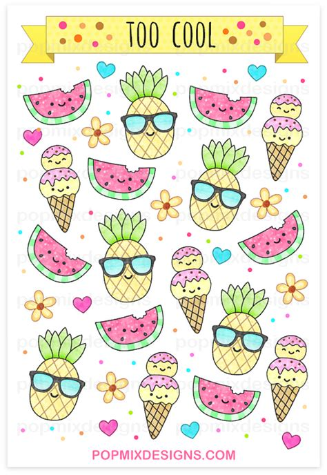 imagenes kawaii pdf http popmixdesigns com item pineapple watermelon