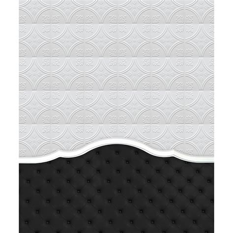 black tufted headboard printed backdrop backdrop express