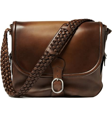 big leather gucci large leather messenger bag s bags